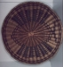 "Native American Basket - Hopi Wicker Tray with Butterfly Pattern, 12 1/2""."