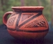 Native American Prehistoric Item - Anasazi Pitcher. Black on Red with Geometric Design.