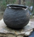 Native American Prehistoric Item - Mississippian Jar Pottery. Grey Corrugated