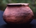 Native American Prehistoric Item - Sinauga Constricted Neck Jar Pottery. Grayware with Simulated Basketry Pattern