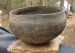 Native American Prehistoric Item - Mississippian Pottery Bowl.  Very Large Grayware with Notches at Rim